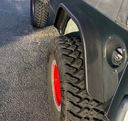 "Rear Double Arch 4"" Fender Flare Set for Jeep TJ - Motobilt"