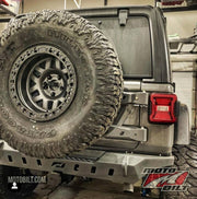 Crusher Rear Bumper w/ Spare Cutout for Jeep JL - Motobilt