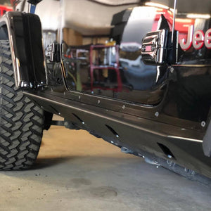 Unlimited Crusher Rocker Guards w/ Step for Jeep JL - Motobilt