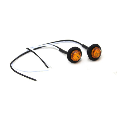 "3/4"" Amber Lens LED Fender/Side Marker Light (2 pack) - Motobilt"