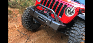Crusher Series Front Bumper w/ Bull Bar for Jeep JL / JT Gladiator - Motobilt