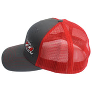 Motobilt Trucker Snap Back Hat Grey/Red - Motobilt