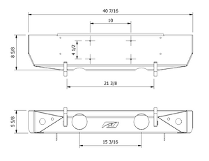 Stubby Front Bumper w/ Fog Mounts for Jeep JK /JKU - Motobilt