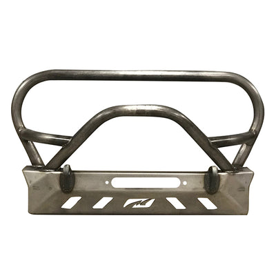 Crusher Series Front Bumper w/ Grill Hoop & Bull Bar for Jeep YJ / TJ /LJ - Motobilt