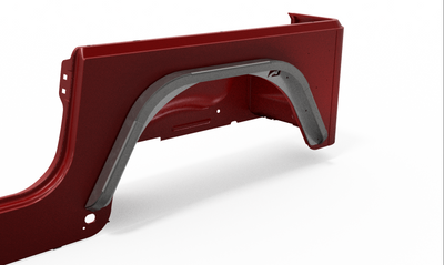 "Rear Double Arch 2"" Fender Flare Set for Jeep TJ - Motobilt"