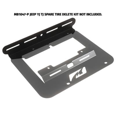 Tailgate Light Mount for MB1047 - fits Jeep YJ / TJ - Motobilt