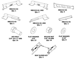 Adjustable Front Seat Mounts for JLU - Motobilt