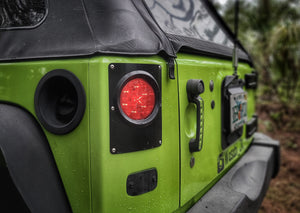 Round Tail Light Conversion Kit for Jeep JK/JKU - Motobilt