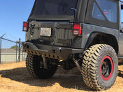 Crusher Series Rear Bumper w/ Light Mounts for Jeep JK / JKU - Motobilt