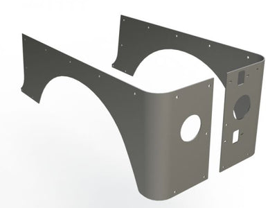 "4"" Stretch Corner Guards for Jeep TJ - Motobilt"