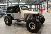 PRE-ORDER NOW! - Rocker Guards with Boat Side Steps for Jeep TJ - Motobilt