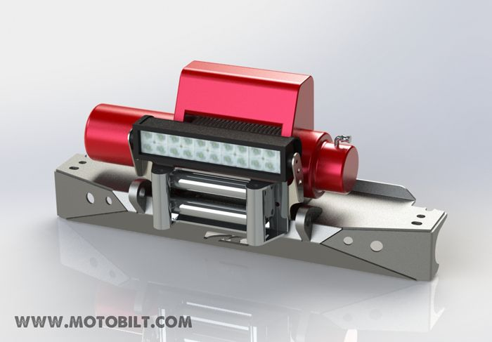 "Winch Fairlead 13.5"" LED Light Bar Mount - Motobilt"