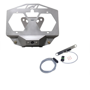 Spare Tire License Plate Relocation Kit w/ Camera Mount & Tag Light for Jeep JL - Motobilt