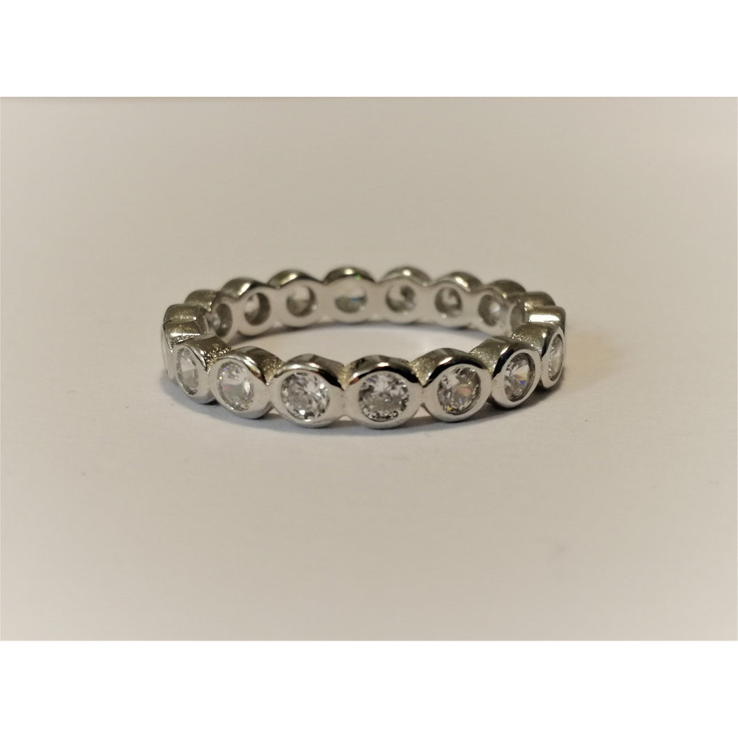 Sterling Silver Circle Eternity Ring
