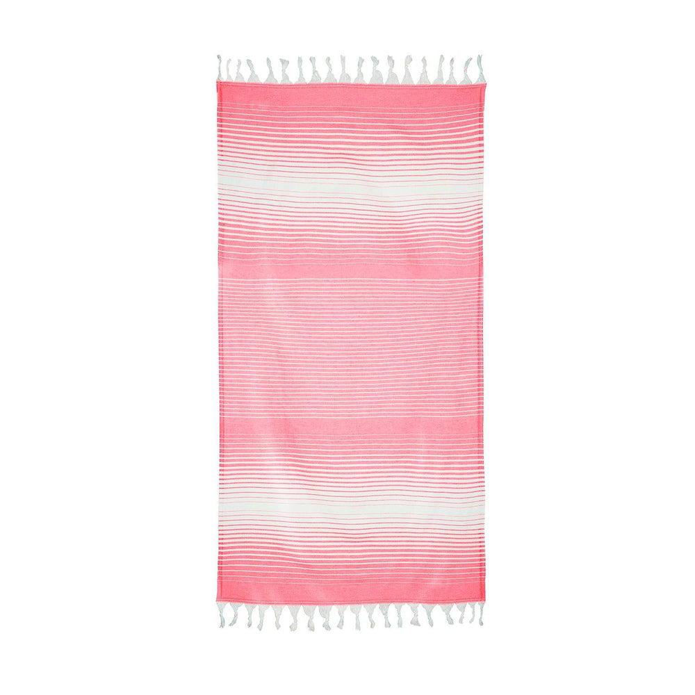 Load image into Gallery viewer, Rainbow - Pink & White Hammam Towel