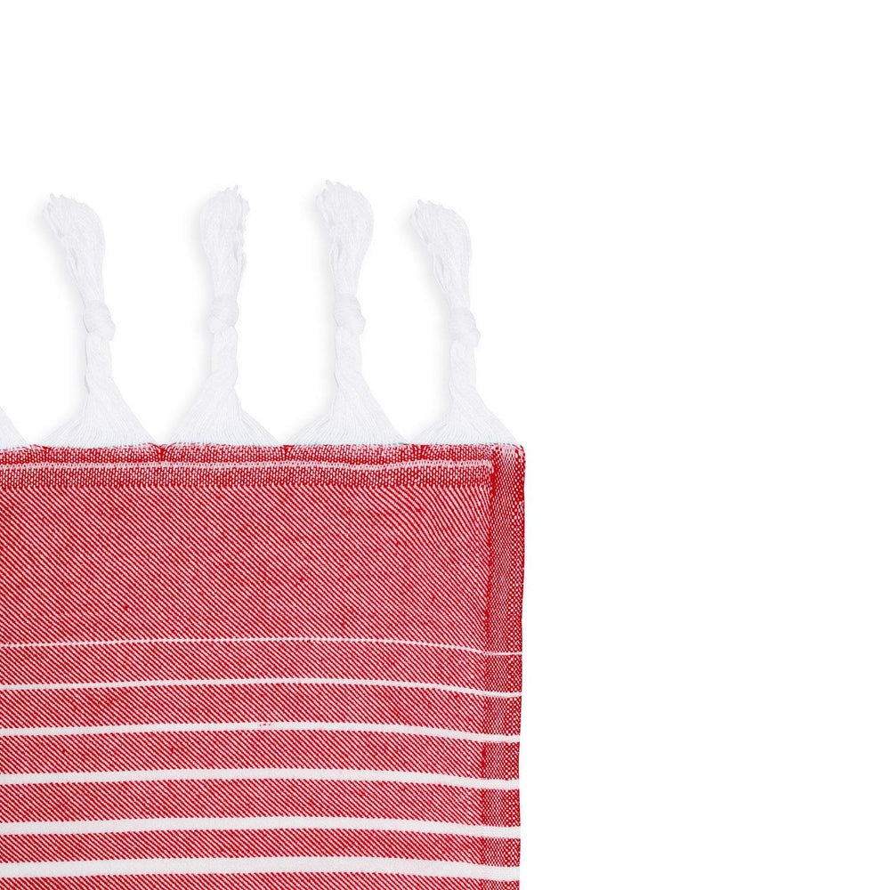 Rainbow - Red & White Hammam Towel