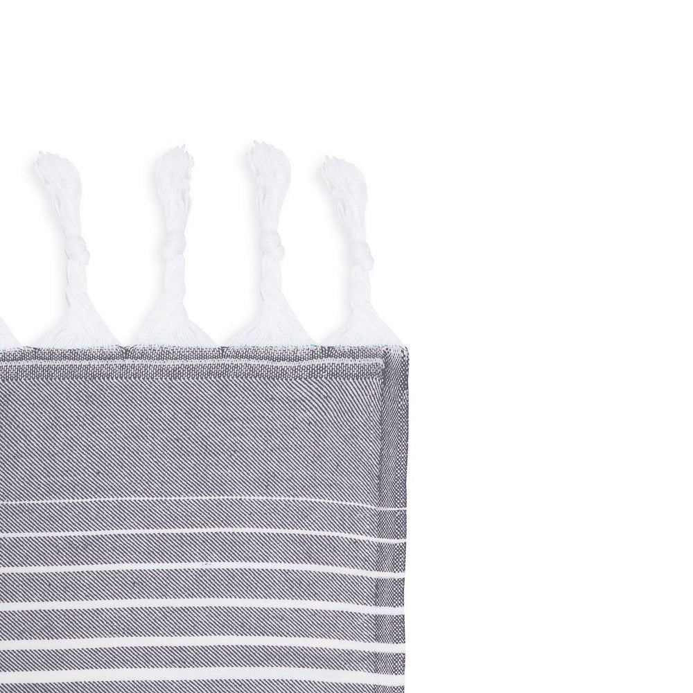 Rainbow - Grey & White Hammam Towel