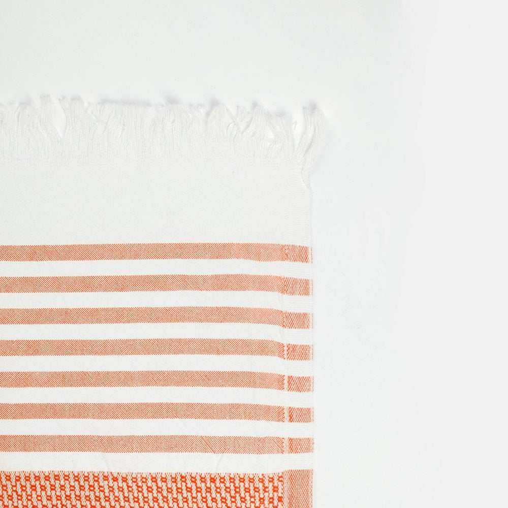 Load image into Gallery viewer, Coast - Coral & White Hammam Towel