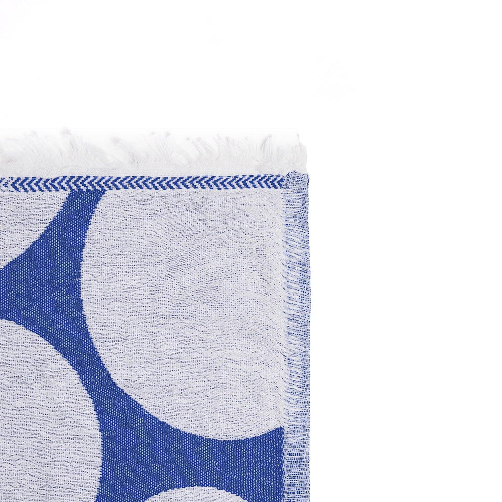 Load image into Gallery viewer, Bubbles - Denim Blue & White Peshtemal