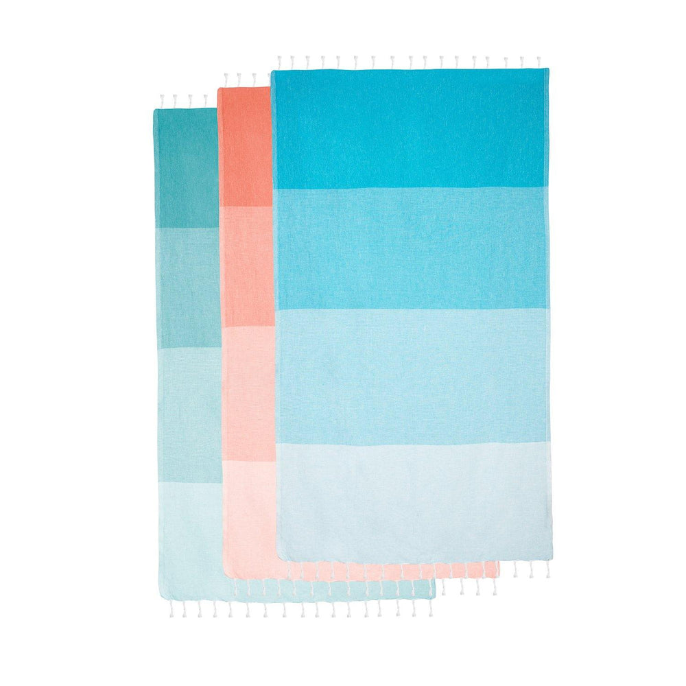 Load image into Gallery viewer, Dune - Teal Hammam Towel
