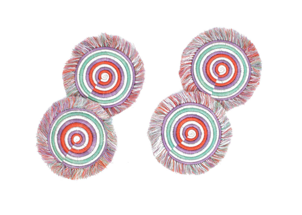Fair Trade  Amatara Fringed Coasters (set of 4)