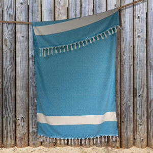 Diamond Hammam Towel - Blue