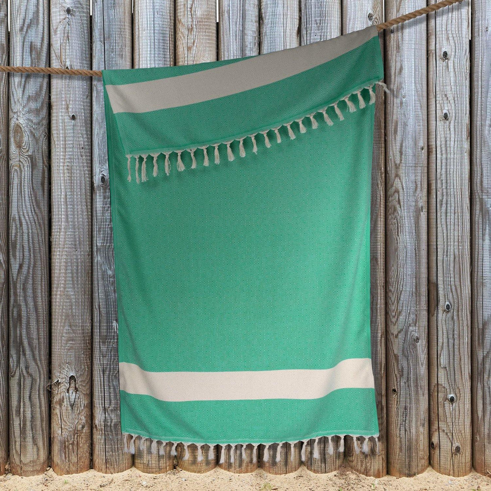 Diamond Hammam Towel - Green