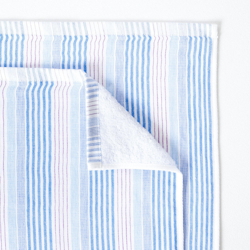 Load image into Gallery viewer, Baby Bath or Beach Towel in Soft Premium Terry Pile - Multi Stripe