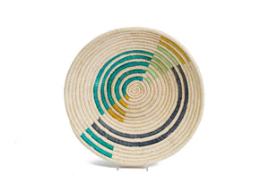 Fair Trade Geo Emerald Bay Large Raffia Bowl