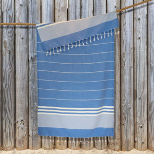 Load image into Gallery viewer, Kali Hammam Cotton Towel - Blue