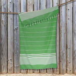 Kali Hammam Cotton Towel - Green