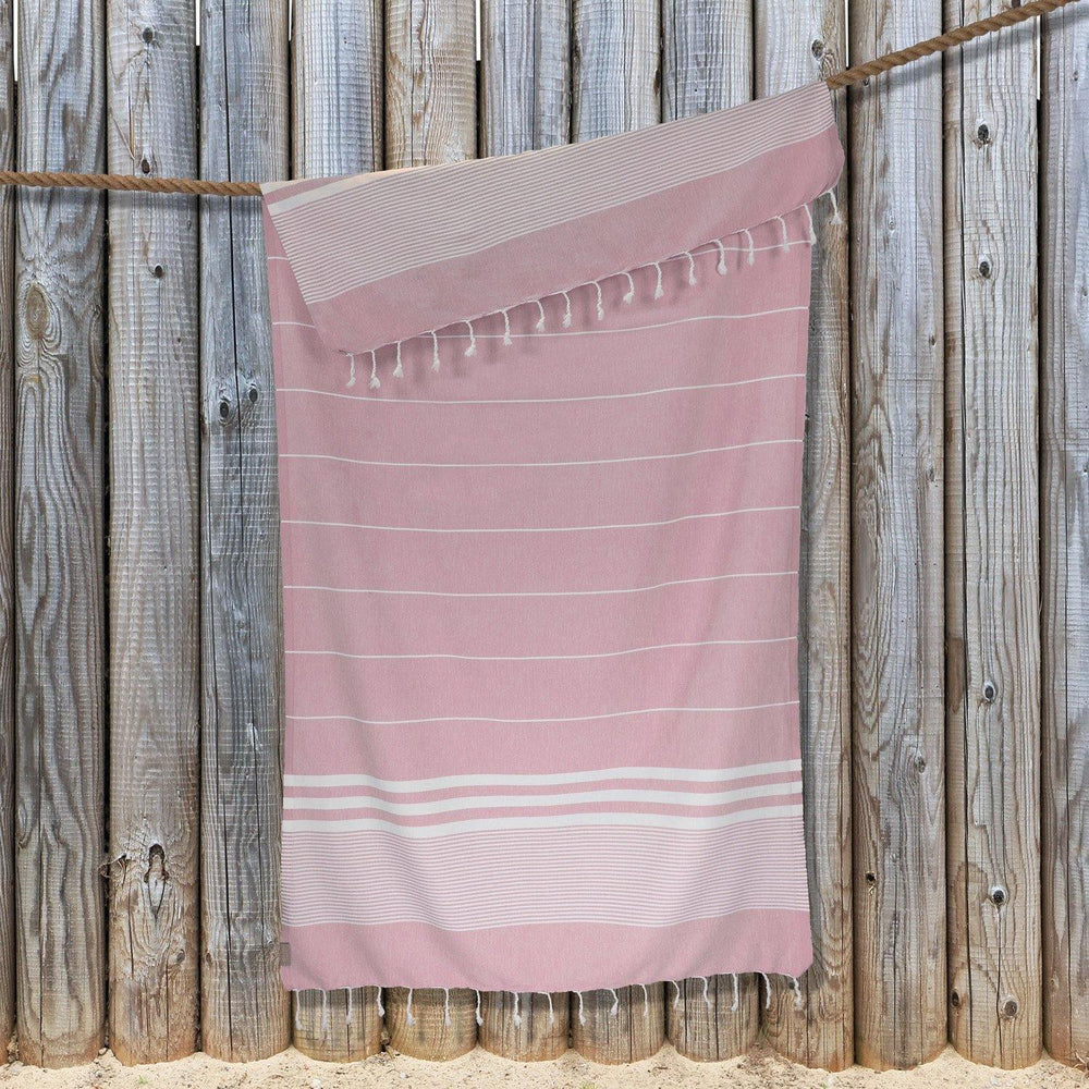 Load image into Gallery viewer, Kali Hammam Cotton Towel - Dusky Pink