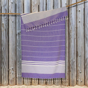 Load image into Gallery viewer, Kali Hammam Cotton Towel - Purple
