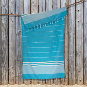 Load image into Gallery viewer, Kali Hammam Cotton Towel - Turquoise
