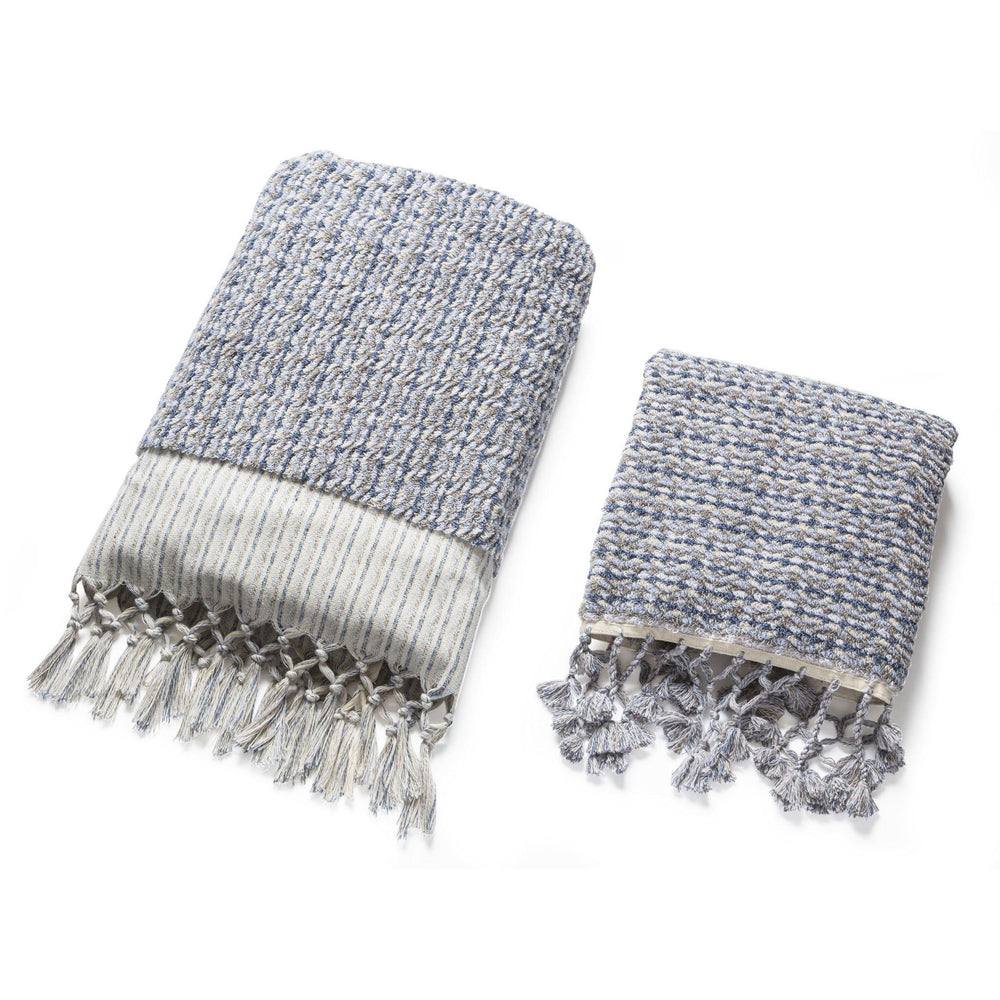 Dune - Blue and Grey Organic Cotton Towel