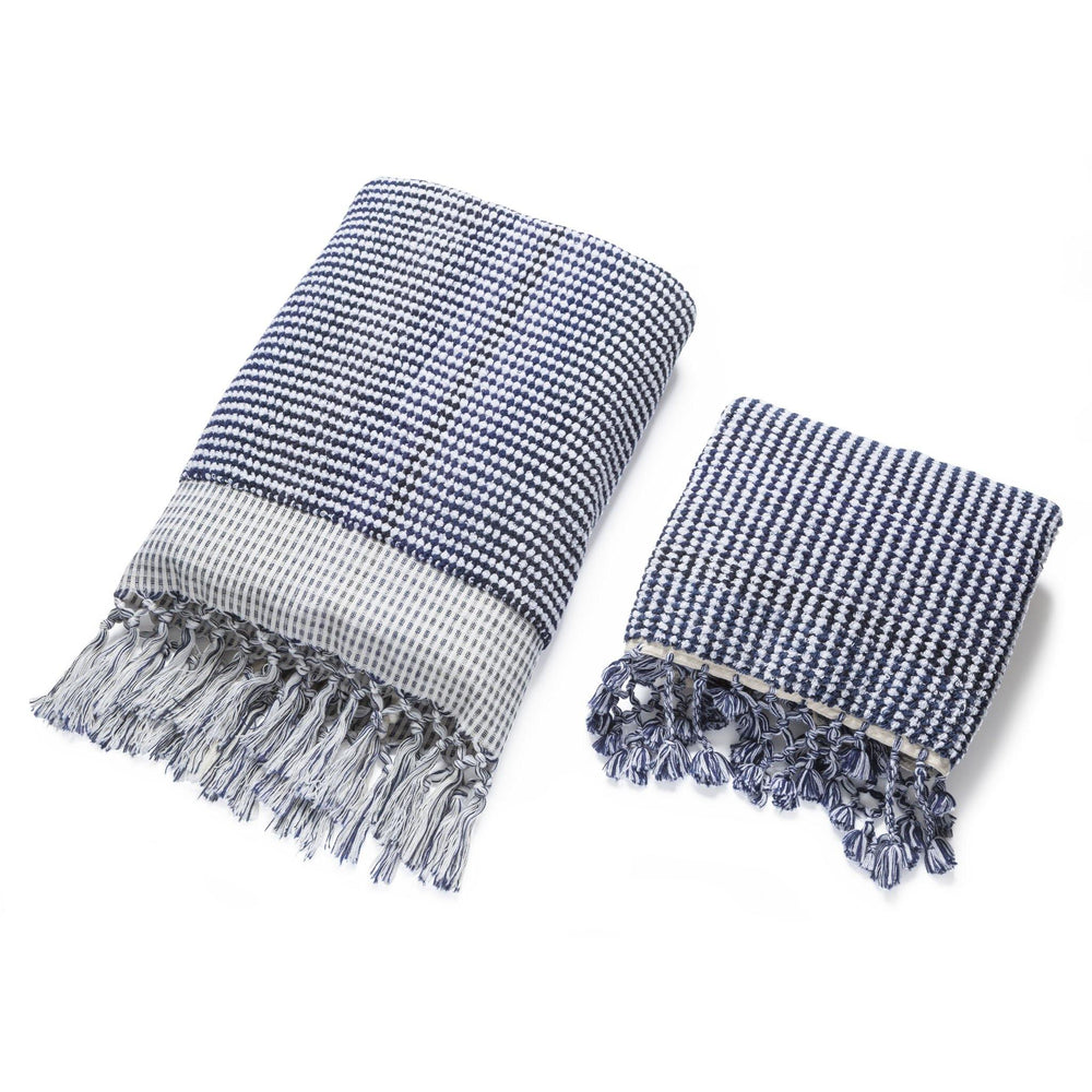 Illusion - Navy And White Organic Bath Towel Limited Edition Colours