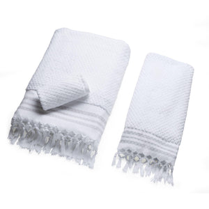 Classic Square - Arctic White Organic Bath Towel Collection
