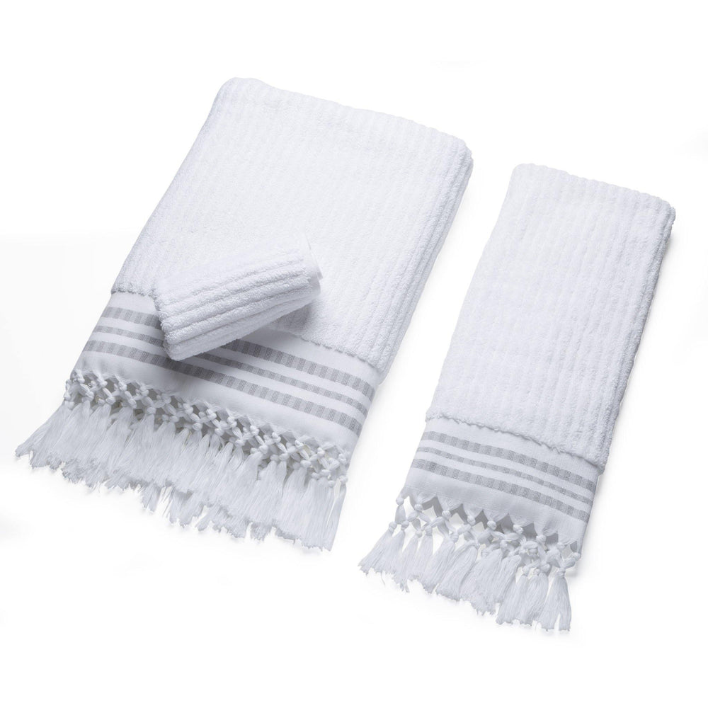 Classic Stripe - Arctic White Organic Cotton Towel