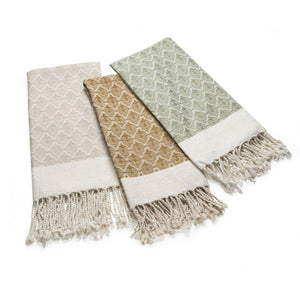The Ottoman - Pistachio Organic Cotton Throw Throws & Blankets