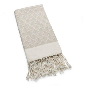 The Ottoman - Parchment Organic Cotton Throw Throws & Blankets