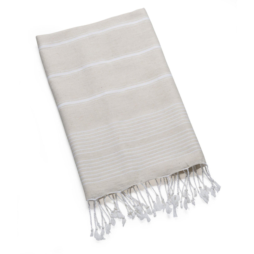 Nazik - Pebble Linen Wrap Beach Towels