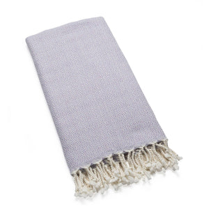 Mirab - Lavender Organic Cotton Throw Throws & Blankets