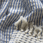 The Waffler - Navy Organic Cotton Blanket Throws & Blankets