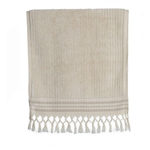 Classic Stripe - Ecru Organic Cotton Towel Collection