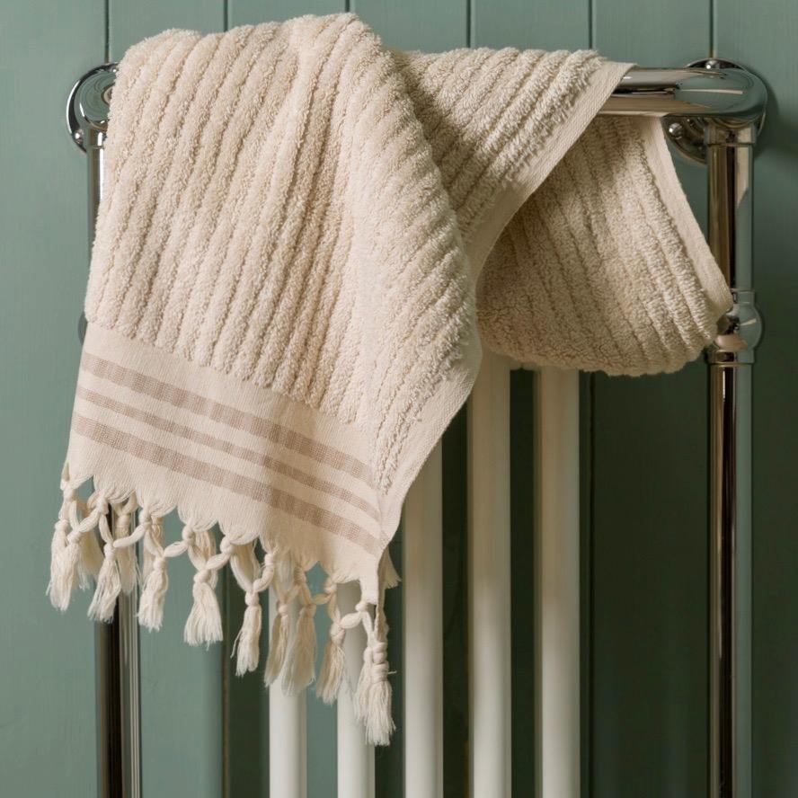 Classic Stripe - Ecru Organic Cotton Towel