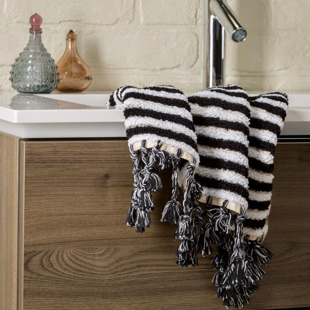 Linea - Black And White Organic Bath Towel Limited Edition Colours