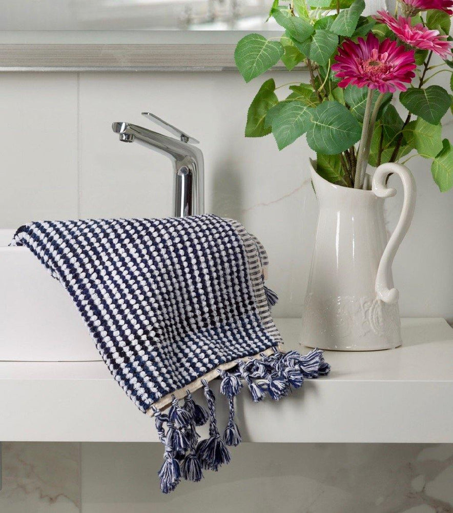 Illusion - Navy and White Organic Towel