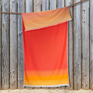 Load image into Gallery viewer, Sunset Beach Hammam Towel - Orange & Red