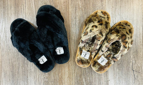 Slumber Black Slippers