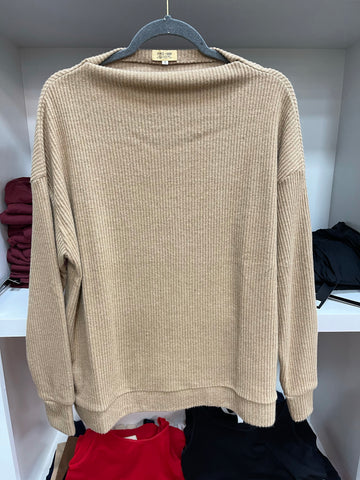 Tan Stripe Sweater